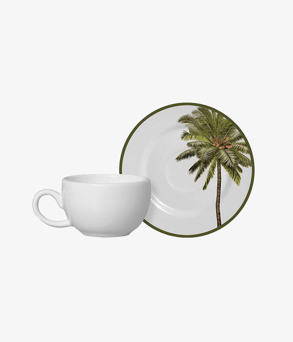 Conjunto Xícaras de Café + 6 Pires Malibu